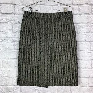 J. Crew Metallic Tweed Pencil Skirt size 4